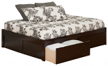 Altantic Urban Concord with Flat Panel Foot Board and Urban Bed Drawers