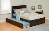 Atlantic Madison Bed with Flat Panel Footboard and Urban Trundle