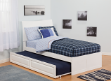 Atlantic Soho Bed with Flat Panel Foot Board and Urban Trundle Bed