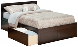 Atlantic Orlando Bed Flat Panel Foot Board and Two Urban Bed Drawers