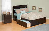 Atlantic Richmond Bed with Flat Panel Footboard and Two Sets of Urban Bed Drawers